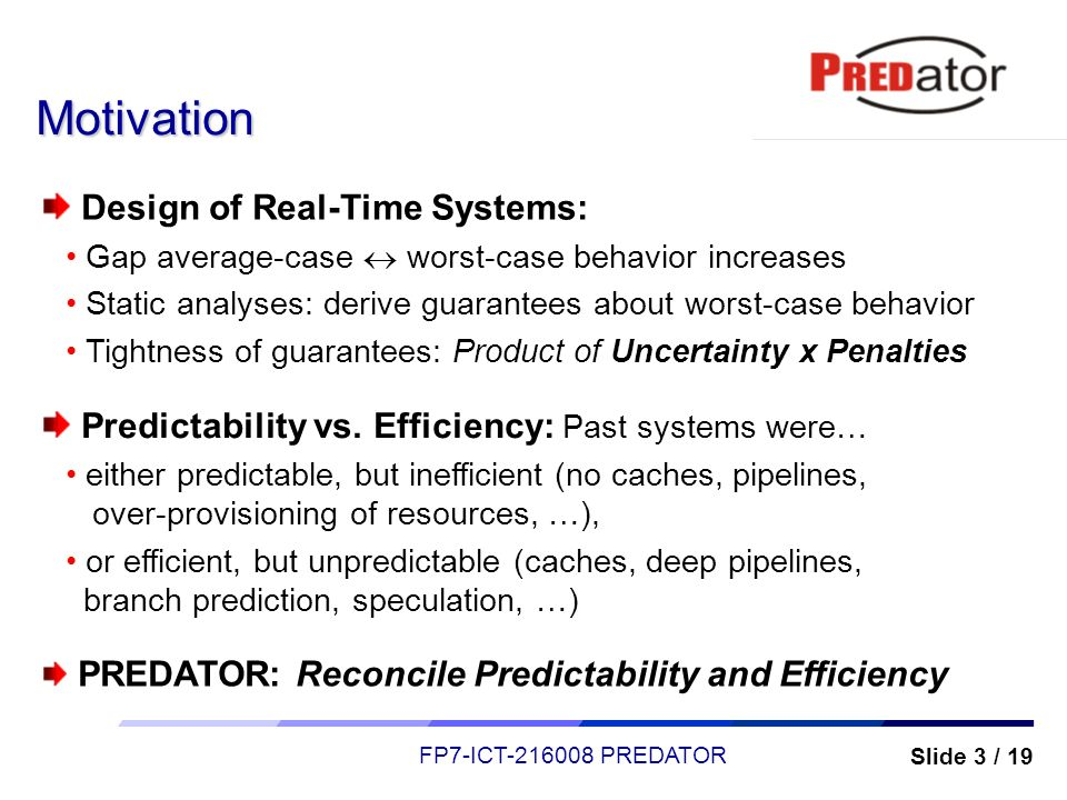 Motivation Design of Real-Time Systems: