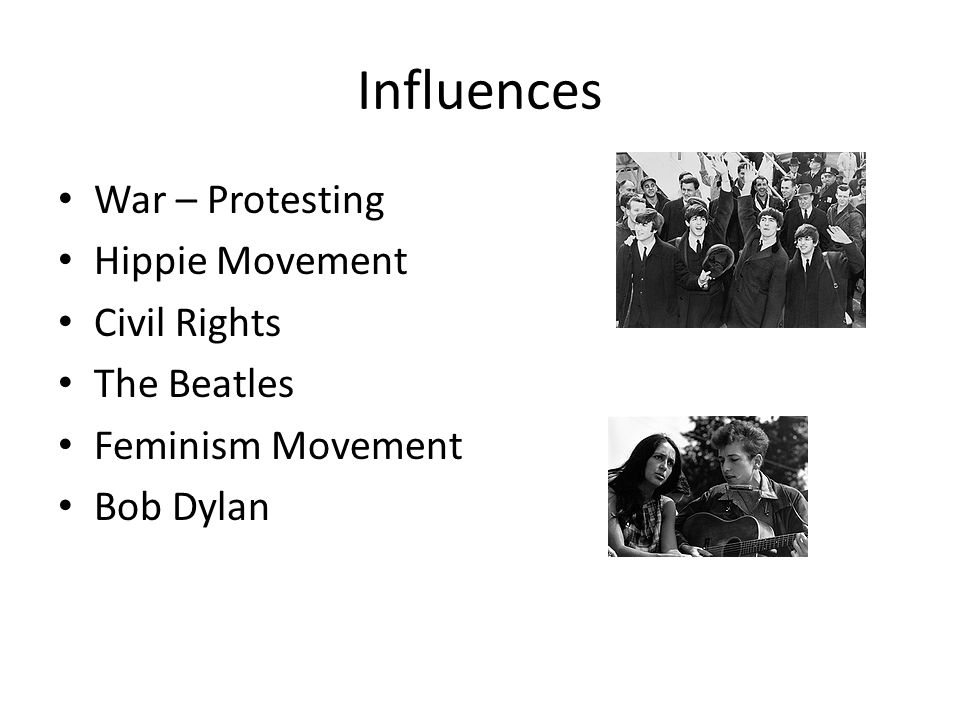 the influence of the beatles on the popularization of the hippie movement Hippy counterculture: but the influence in the fashion trend start with the hippy movement take a look and discover who were the firsts to use the human be-in, a youth rally held in san francisco popularized hippie culture, opening the way for the legendary summer of love in the.