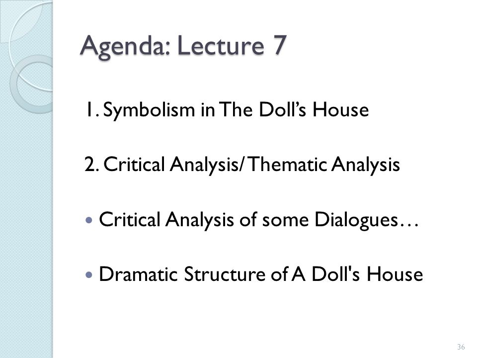 Animal Symbolism in A Doll's House Essay
