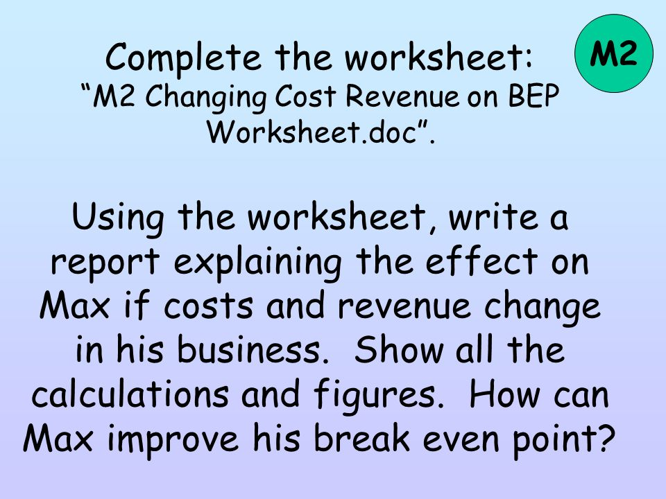 how to calculate break even point from financial statements