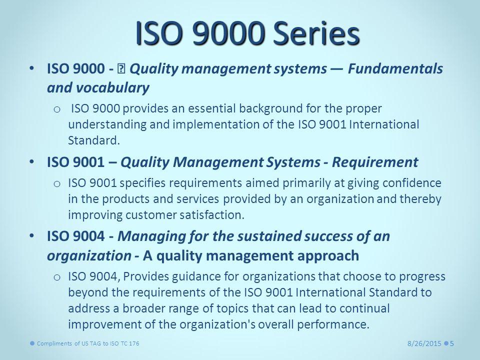 quality management and international standards pdf