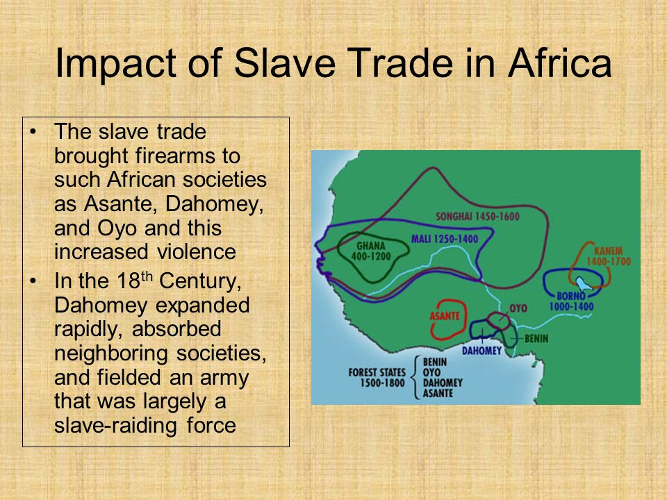 16 effects of the slave trade in african societies The trans-saharan slave trade had long supplied enslaved african labor to work  on  an average of 80 percent of these enslaved africans—men, women, and  children—were  during the 16th and 17th centuries, brazil dominated the  production of sugarcane  cats have a killer impact on reptiles.