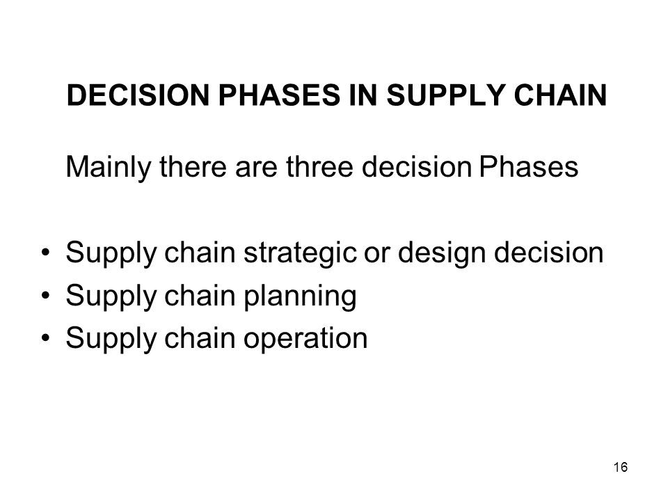 decision phases in a supply chain Case study for supply chain leaders: dell's transformative journey through  decision-making  supply chain design for a new environment — it.
