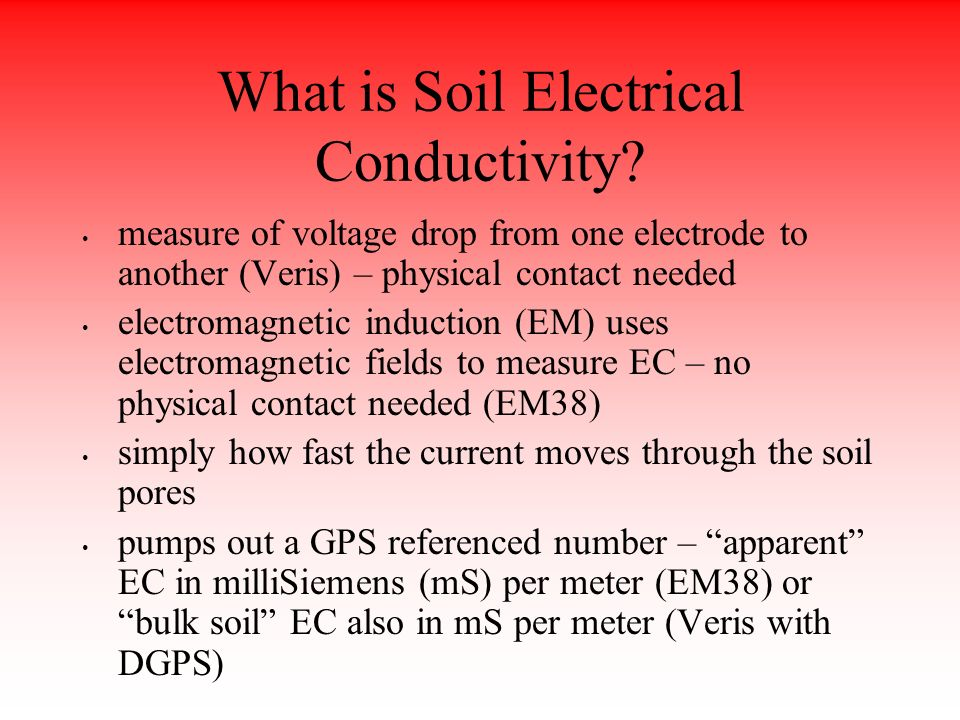 what is electrical conductivity Ec stands for electrical conductivity, which is the potential of any material to  conduct electricity read what ec means for your plants health and what it does.