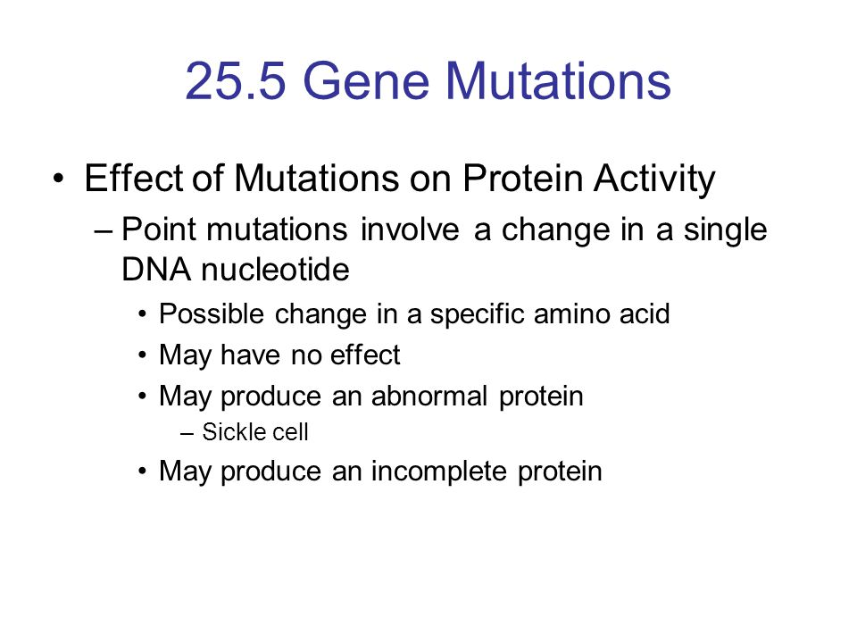 Gene mutations worksheet answer key