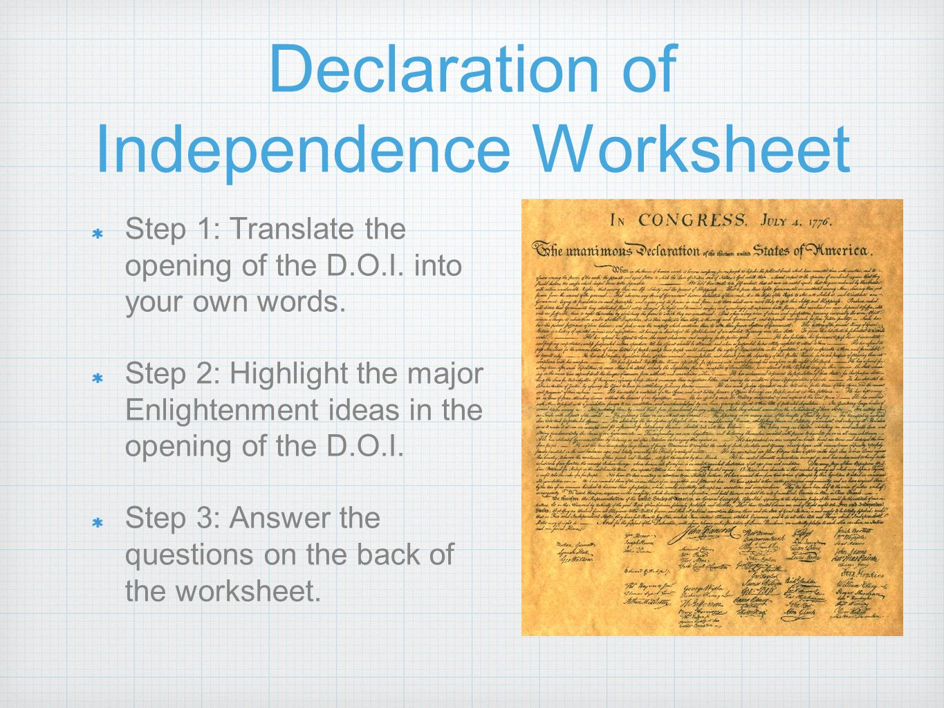 Uncategorized Declaration Of Independence Worksheet american revolution build up overview results ppt download 14 declaration of independence worksheet