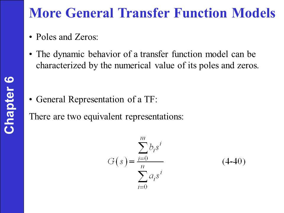 transfer function Transfer function as we cover in chapter 6, the transfer function of a digital filter is defined as where is the z transform of the input signal, and is the z transform of the output signal .