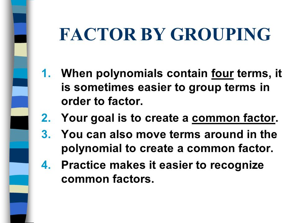how to factor third order polynomials