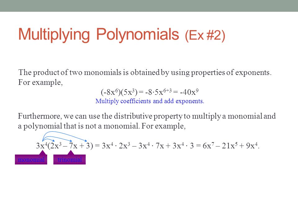 Multiplying Polynomials (Ex #2)