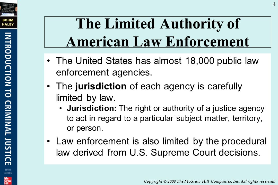 Law enforcement structure function and jurisdiction