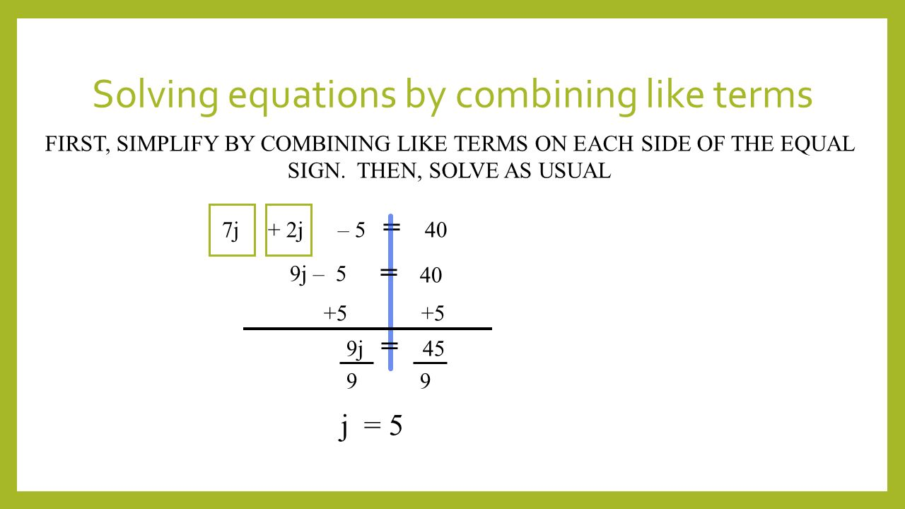 Worksheet On Combining Like Terms solve systems of ...