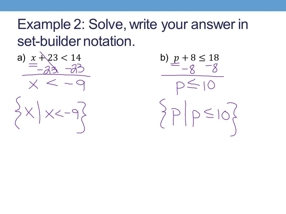 51 Solving Inequalities by Addition Subtraction ppt download – Set Builder Notation Worksheet