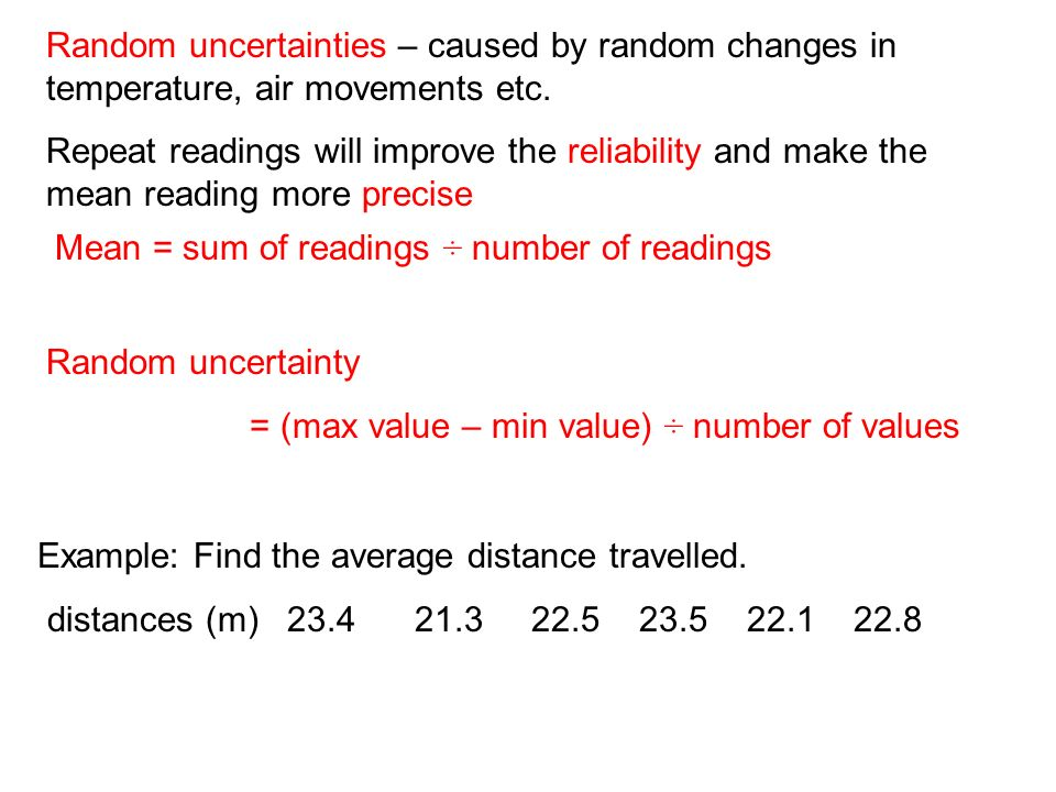 how to find the uncertainty of an average