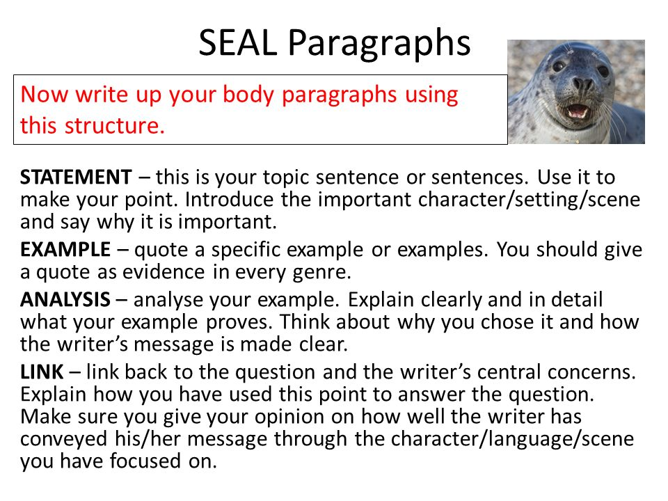 the body of an essay is made up of Each body paragraph contains one main idea, backed up by textual evidence and your own analysis your analysis should make up the majority of your paragraph remember that (unless your teacher specifically says so), there's nothing magic about having three body paragraphs.