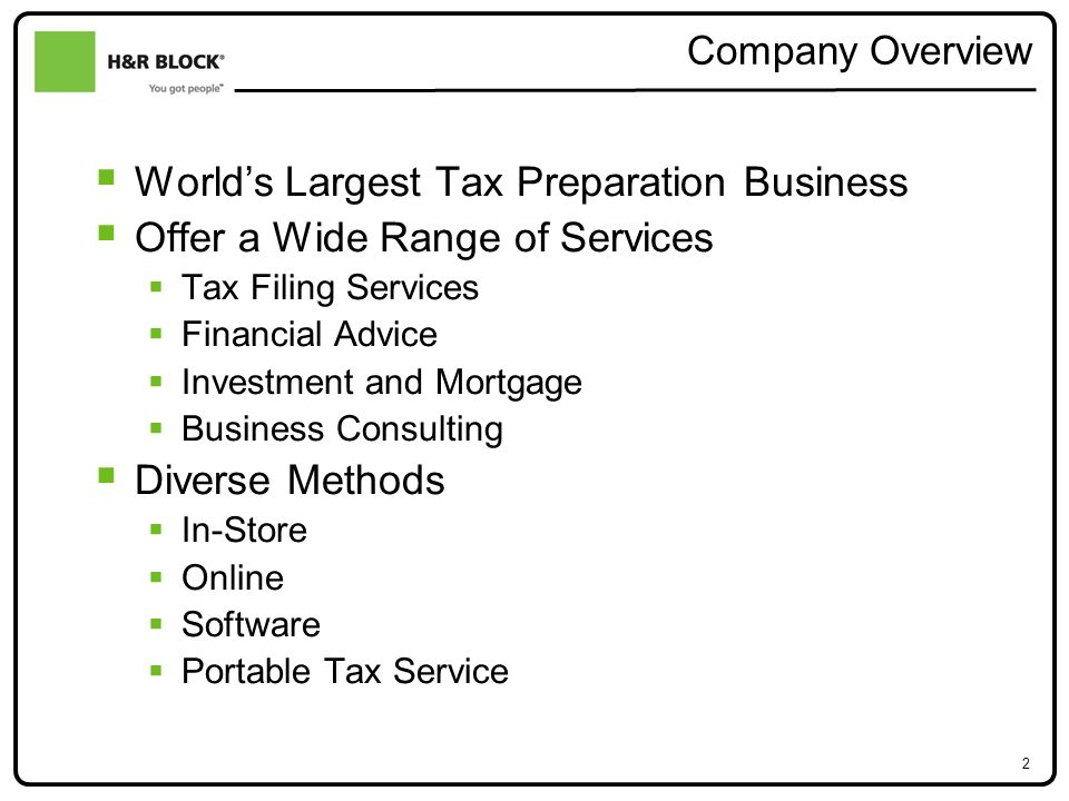 A Sample Tax Preparation Service Business Plan Template