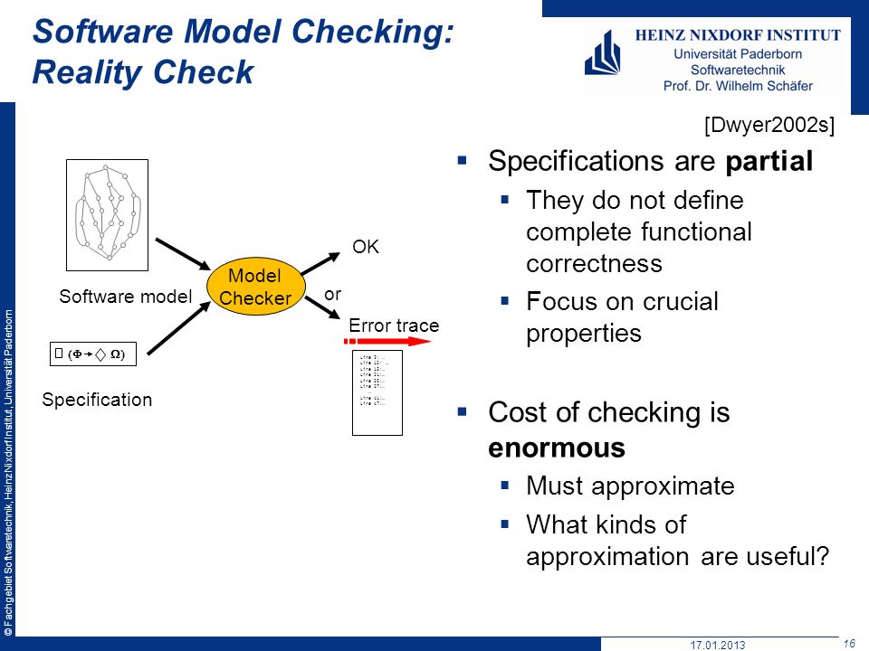 Software Model Checking: Reality Check