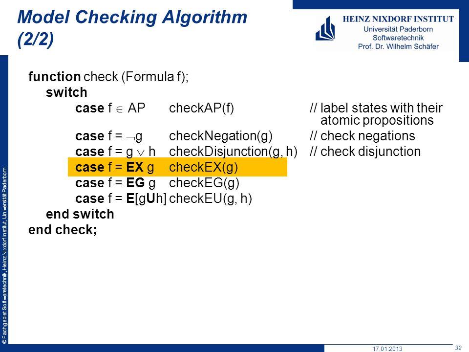 Model Checking Algorithm (2/2)