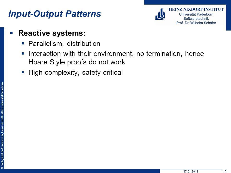 Input-Output Patterns