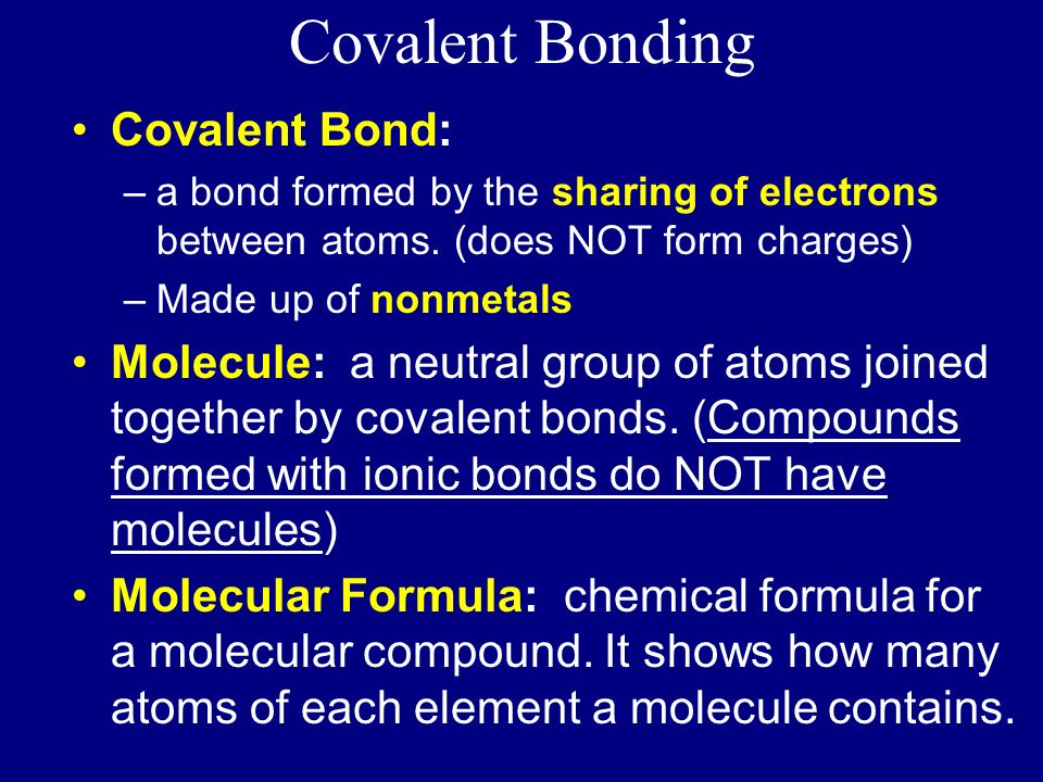 Covalent Bonding. - ppt download
