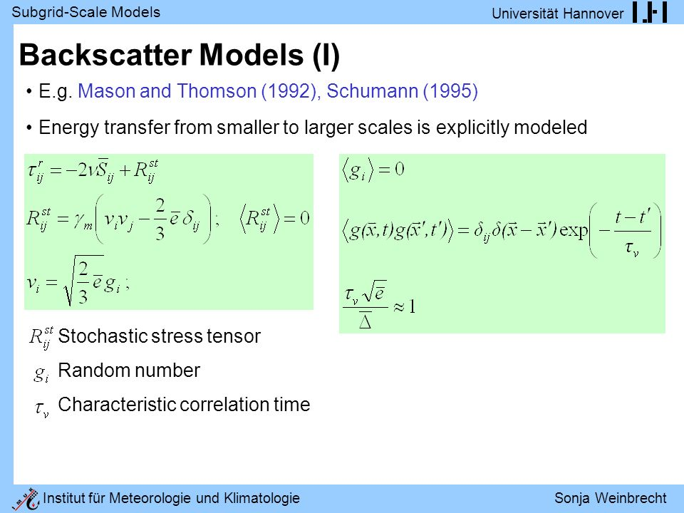 Backscatter Models (I)