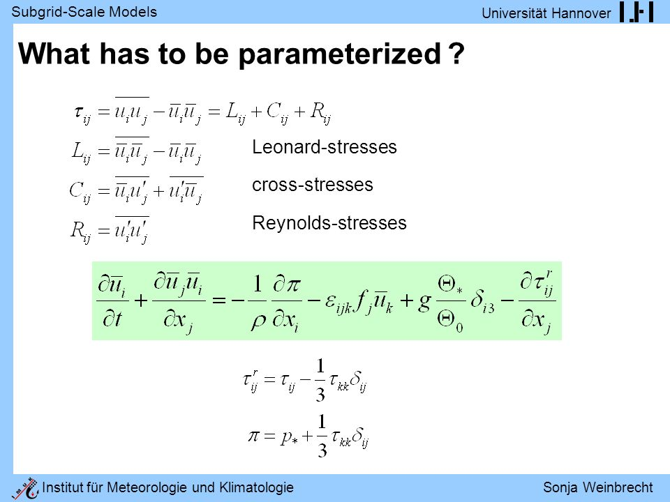 What has to be parameterized