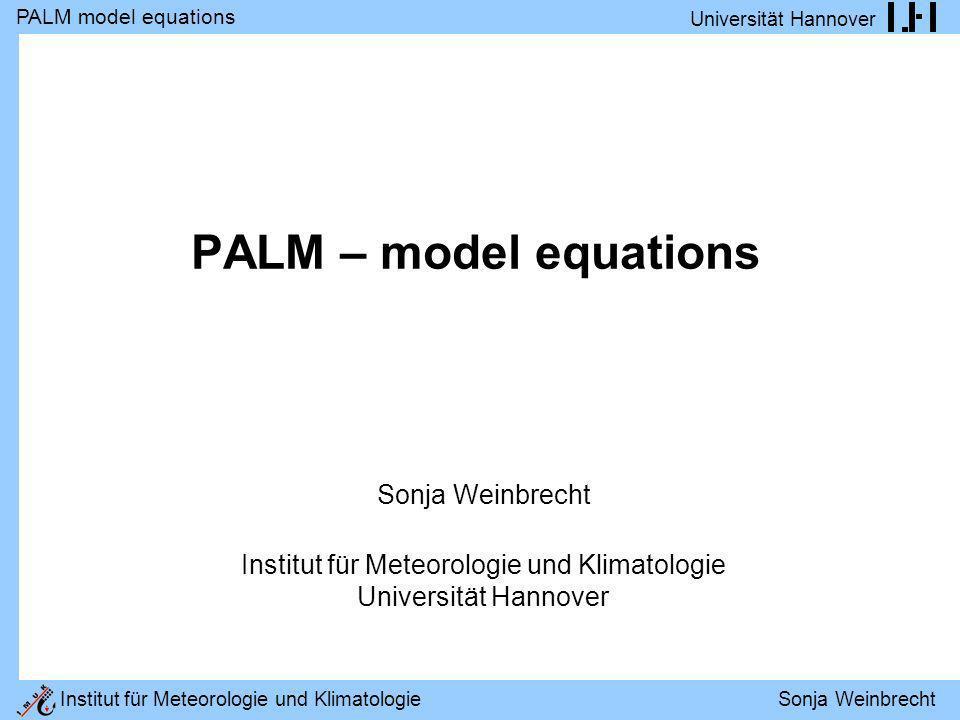 Institut für Meteorologie und Klimatologie Universität Hannover