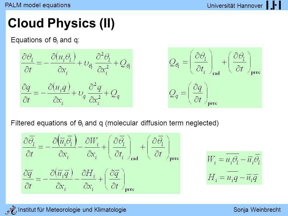 Cloud Physics (II) Equations of θl and q: