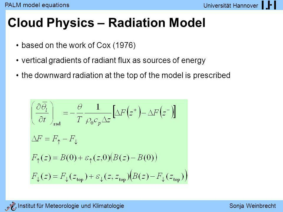 Cloud Physics – Radiation Model
