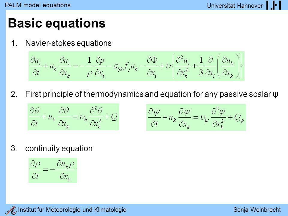 Basic equations Navier-stokes equations