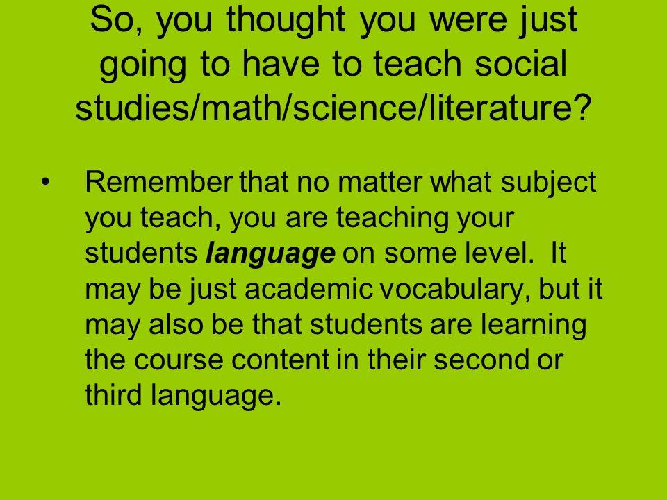 ppt on how to teach social science