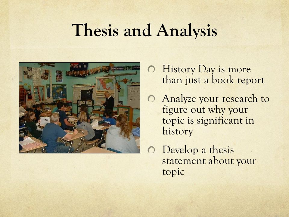 history day thesis statement Official national history day information if you want to go directly to the source crafting your thesis statement video: crafting your thesis statement.