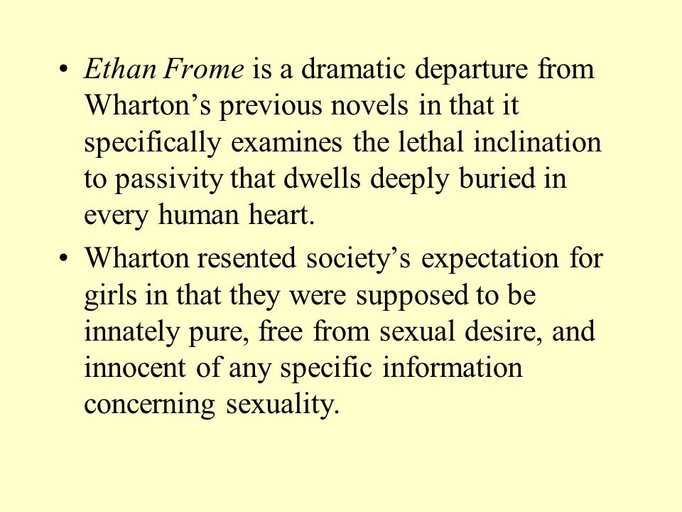 ethan frome isolation essay Ethan frome, the main character in the book entitled ethan frome, by edith wharton, has many complex problems going on at the same time his family has died and he.