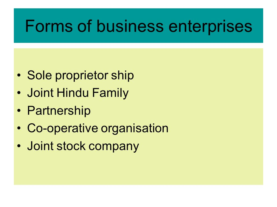 forms of business organisation A sole proprietorship (also referred to as a sole trader) is a business which is owned by one person and is the simplest form of business organisation the sole trader has complete ownership of the firm's assets and is personally responsible (subject to certain limitations) for the liabilities of the business.