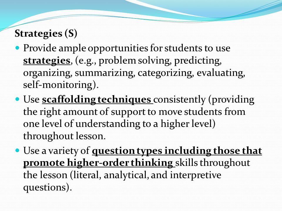Strategies (S)