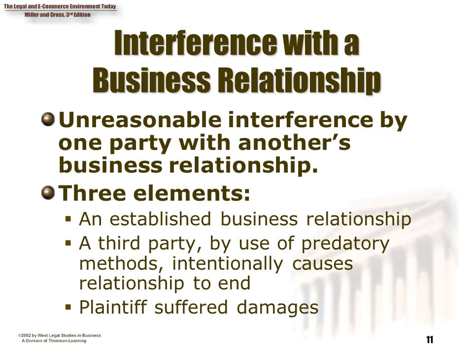 tort of interference with a business relationship