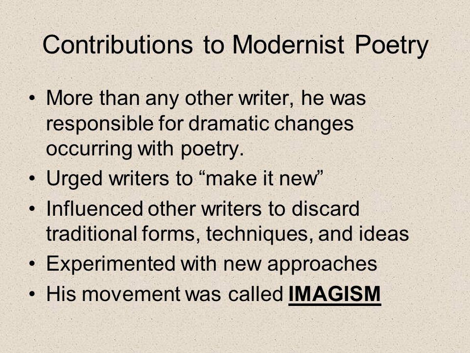 Ezra Pound & Imagism. - ppt video online download