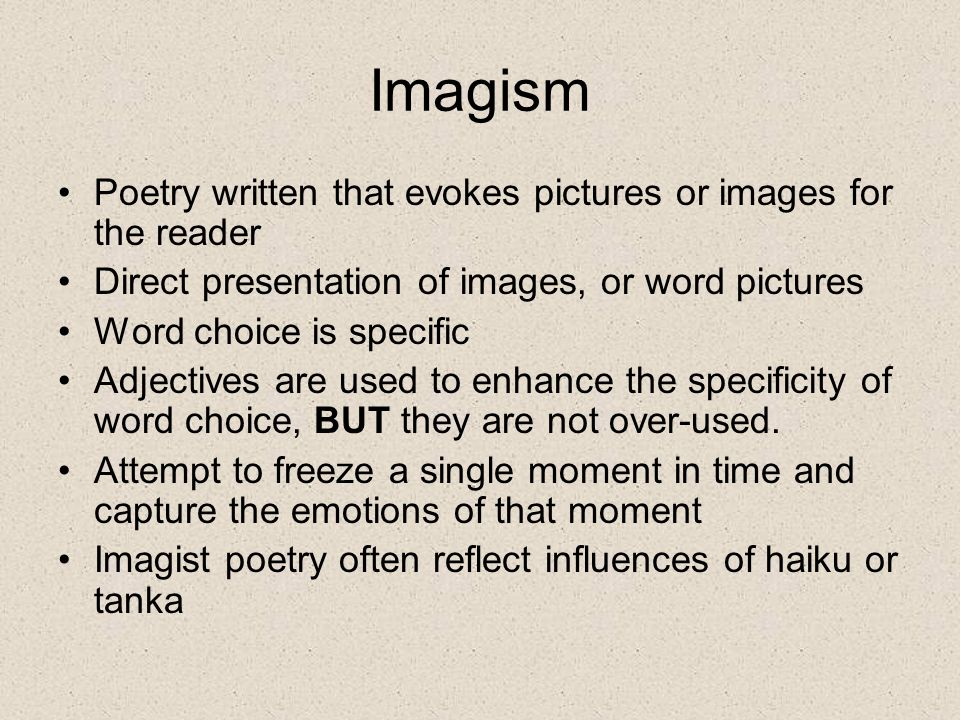 A Brief Guide to Imagism