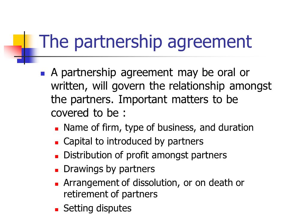 accounting for dissolution of partnerships
