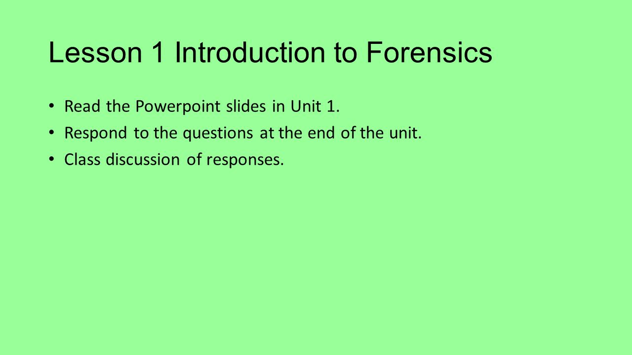 forensics 2 unit 2 text Btec level 3 applied science - unit 2 47 11 customer reviews author: created by  range of general resources for btec level 2, unit 13 (forensics), assignment 2+3 (planning and carrying.