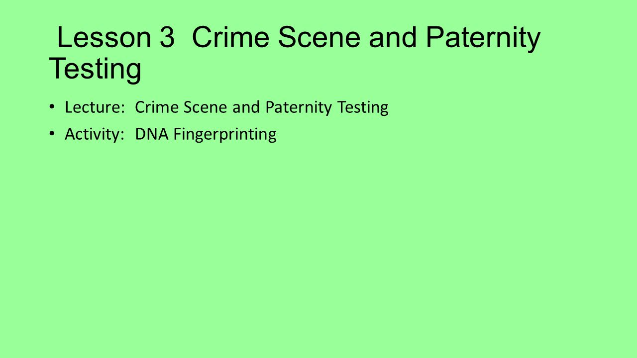 dna testing in crime scenes essay Forensic analysis of hair samples in order to extract dna is a method commonly used for the purpose of identification in both criminal investigations as well as parental dna testing.