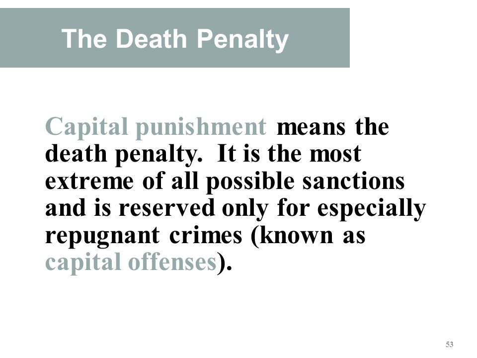 capital punishment only punishment that fits the crime We've got to make sure that the young, violent, serious juvenile offender is punished, that it's fair punishment, that it's punishment that fits the crime and that is understood and that is anticipated and expected.