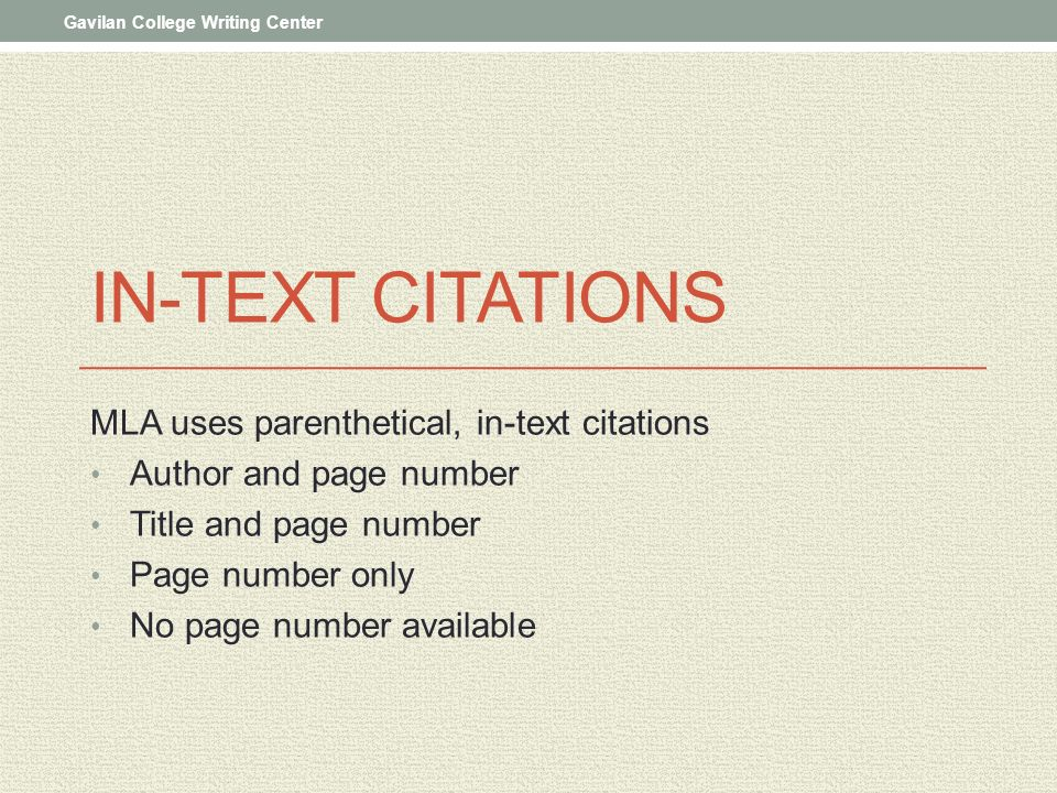 What is MLA in text citation?
