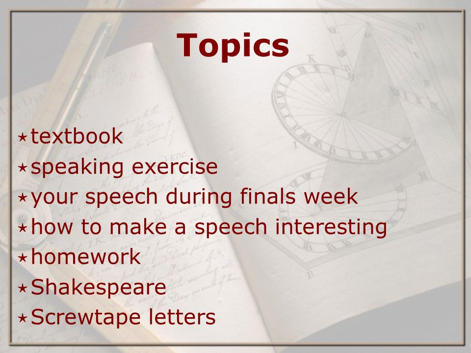 english week ppt  2 topics