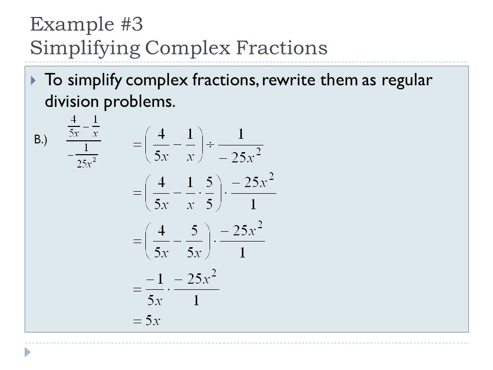 how to find the least common denominator in complex fractions