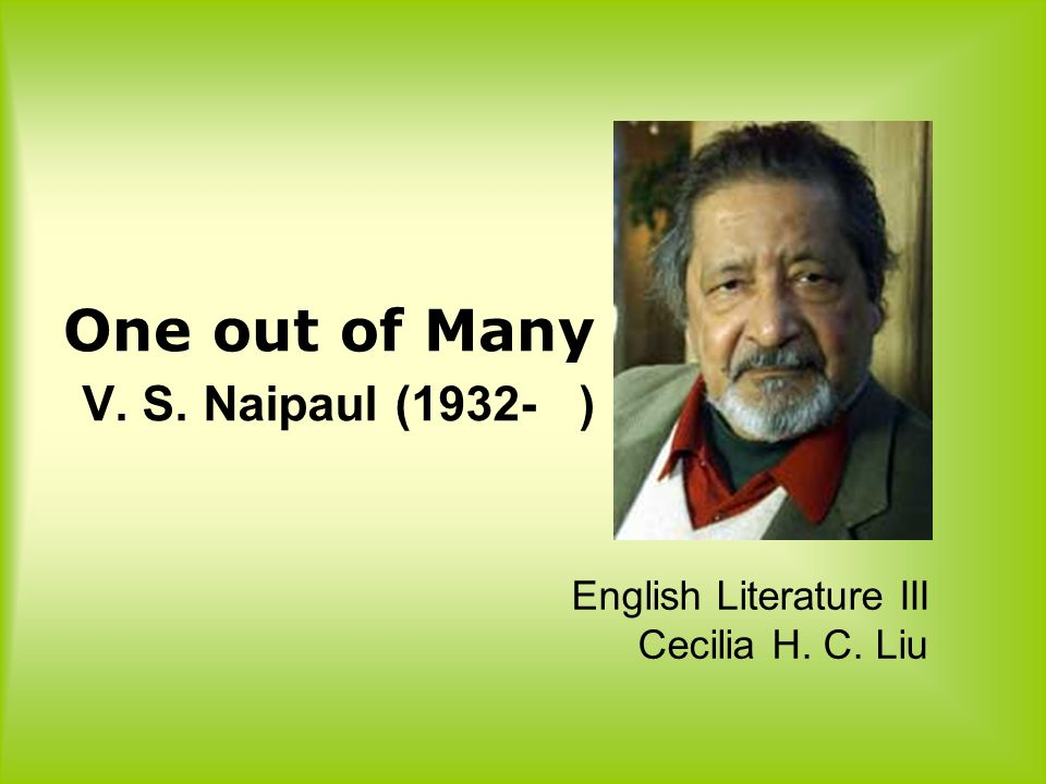 v.s. naipaul essays A house for mr biswas study guide contains a biography of vs naipaul, literature essays, quiz questions, major themes, characters, and a full summary and analysis.