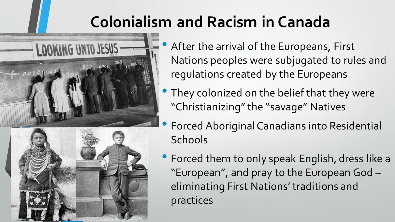 racism in canada Our children are taught about the goodliness of the underground railroad, but never an honest history of our first public schools or black migration that there are racist place names in quebec is.