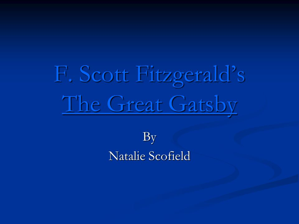 f scott fitzgerald s the great gatsby Self-made millionaire jay gatsby epitomizes the decadence of the 1920s jazz age in this tale of mobility and decline told with detached curiosity by his neighbor and confidant nick carraway as harold bloom suggests, in his introduction to this new edition of full-length critical essays on the.
