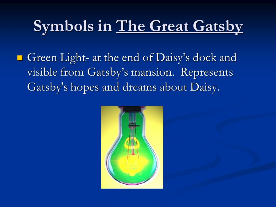 Symbols Of The Great Gatsby By F Scott Fitzgerald Coursework