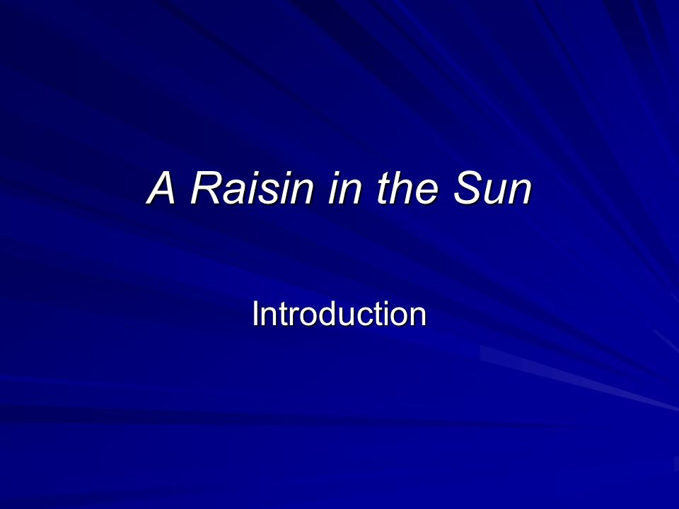 Raisin In The Sun Essays