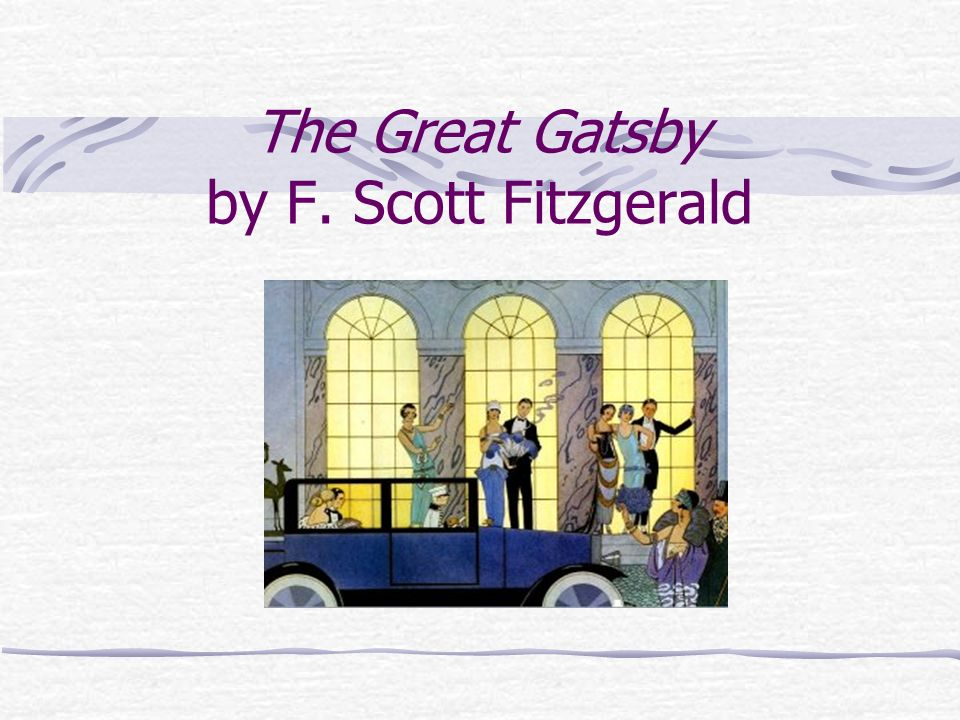 an analysis of the way scenes set the mood in the great gatsby by f scott fitzgerald